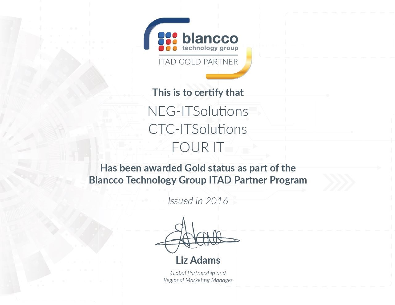 Blancco Certificate of Verification